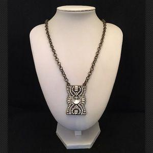 Plunder Jewelry ZOE Brass & Rhinestones Necklace